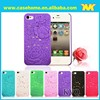Ladies Phone Cases Flowers Hard Case for iphone 4s