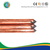 0.254mm Pointed Copper Bonded Steel Ground Rod