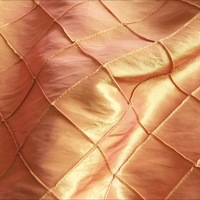 cheap orange pintuck taffeta fabric for sale