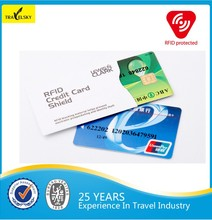 Travel blocking rfid credit card sleeve
