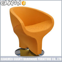 colorful salon cutting chair with whirl footrest
