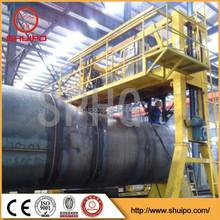 Automatic straight seam welding machine and thin-wall tank welding