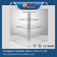 2015 Factory Supply Superior Square Acrylic Cake Stand