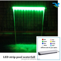 Artificial waterfall with LED strip/Outdoor water fountain/Swimming pool ornament