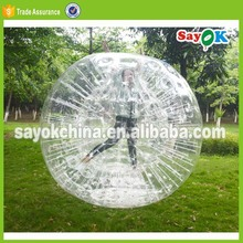 roll inside inflatable human baby hamster ball pool for sale