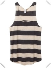 custom American Apparel Tri-Blend Racerback Tank for women, Ladies' wide stripe Eco Jersey Racerback Tank wholesale