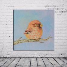 Wholesale High Quality Handmade Acrylic Bird Oil Painting For Living Room