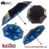 hot sell blue sky 3 folding umbrella