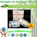 100% de hueso del medio ambiente en caja del tejido suave paquete de pañuelos faciales con la caja