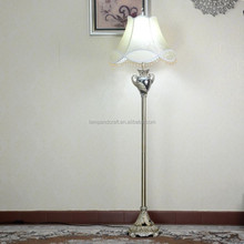 high quality polyresin floor lighting with white shade and wings shape