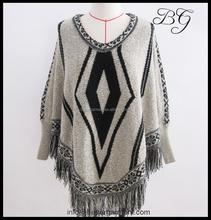 Sweater factory wholesale fashion 100 acrylic sweater for women / ladies / girls BG151055