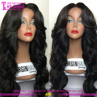 Peruvian hair lace wig For black women body wave virgin peruvian full lace wig with baby hair