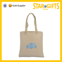 Custom Premium Eco Friendly Logo Printed City Souvenir Jute Tote Bag For Ladies