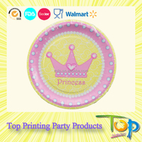 Wedding/Birthday Party Cake Plates Disposable Paper Plates and Trays