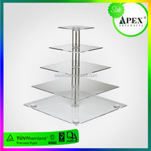 Chinese Factory Produce SGS Non-toxic Test Tiered Crystal Wedding Cake Stand