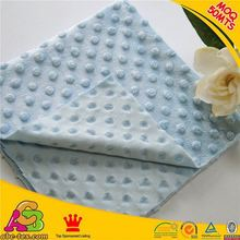 MOQ 50MTS hot sale high quality Oeko-tex 100 and SGS new design heart design minky dot velboa