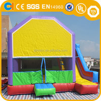 Commercial Inflatable Jumping Castle with velcro banner, outdoor inflatable colorful bouncer, InflatIable bounce house for sale
