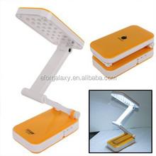 Folding 24 LED Rechargeable Desk Lamp (Orange)