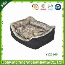 Luxury dog sofa bed & faux fur pet product & Soft pet product dog sofa