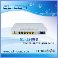 gepon onu router 4FE+2PORT+WIFI Cable Modem