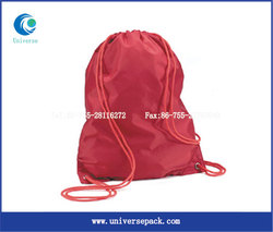 Red Backpack Customized Personal Nylon For Sale Drawstring Export Bags