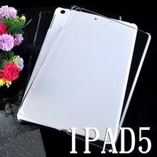 OEM Logo Ultra thin 0.3mm Clear TPU back Case For iPad Air