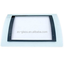 sell black curved range hood tempered glass with different radius direct by factory