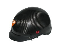 Carbon half face helmet, without visor,leather padding and lining, ECE/DOT certificate