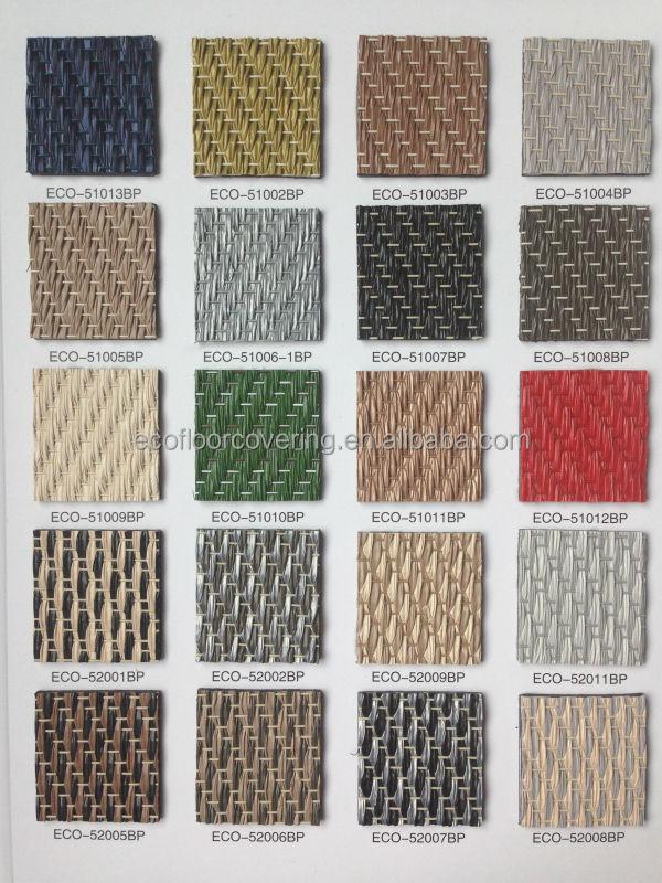 2014 New Pvc Tile Of Pvc Floor Covering Woven Vinyl