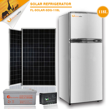 118LTop Bottom, side by side, compact, top open freezer Type and New Condition Atlantis Solar Refrigerator