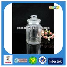 Wholesale glass clip lid jars, food grade glass candy jars