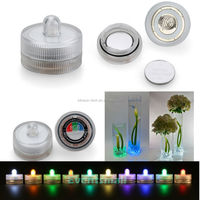 Multi-color Small Battery Operated Mini Led Submersible Single Tea Lights For Wedding Centerpiece