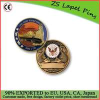Wholesale price custom quality SS New Hampshire SSN-778 Challenge Coin
