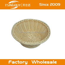 2015 hot selling artisan 100% woven plastic washable rattan storage basket container store