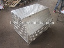Truck trailer checker plate upright portable aluminium trailer tongue tool box