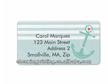 Girly Nautical Anchor Personalized Address Labels