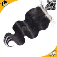 7A bleached knots human hair middle part/ free parting/3 part lace closure