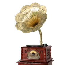 2015 Hottest popular Antique gramophone replica with RCA audio output