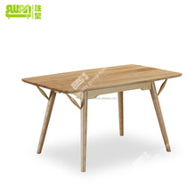 3096 solid wood 4 seater wood dining table