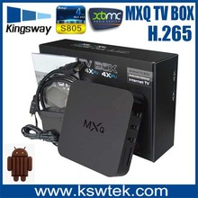 Best price mxq amlogic s805 quad core external antenna android tv box