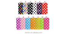 for iPhone 4S Back Soft Gel Rubber Silicon Case Hot Selling Cute Cheap Colorful Dot Hole Case Cover for iPhone 4S