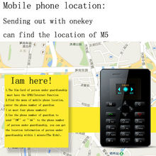 M5 Card size mobile phone, gps locator cell phone