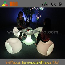 plastic led cube chair Outdoor LED Light Cube Comfy chair