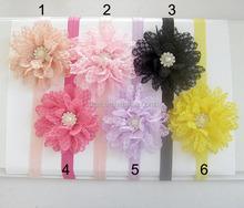 Classic design children wave pearl flower hair band
