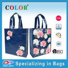 good quality pp woven double sides laminated shopping tote bag