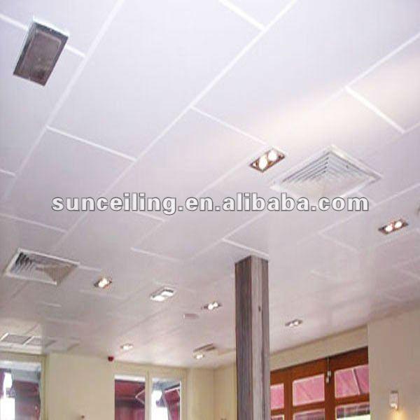 Fibra de vidrio materiales de techo de aislamiento acústico panel de techo techo