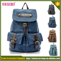 Custom fashion korean style canvas backpacks bag Alibaba China