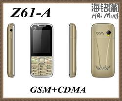 CDMA phone 800mhz G+C cheap mobile phones dual cards dual standby z61-A