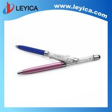 Crystalline Lady ballpoint pen, stylus touch pen ,black or blue refill LY-S078