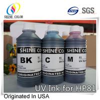 1000ml 6 color for HP 81 UV dye ink for HP Designjet 5000 5500 inkjet